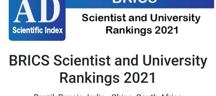 (Português do Brasil) Professores do PPG Agronomia estão entre os primeiros da lista da UFMS no BRICS Scientist and University Rankings